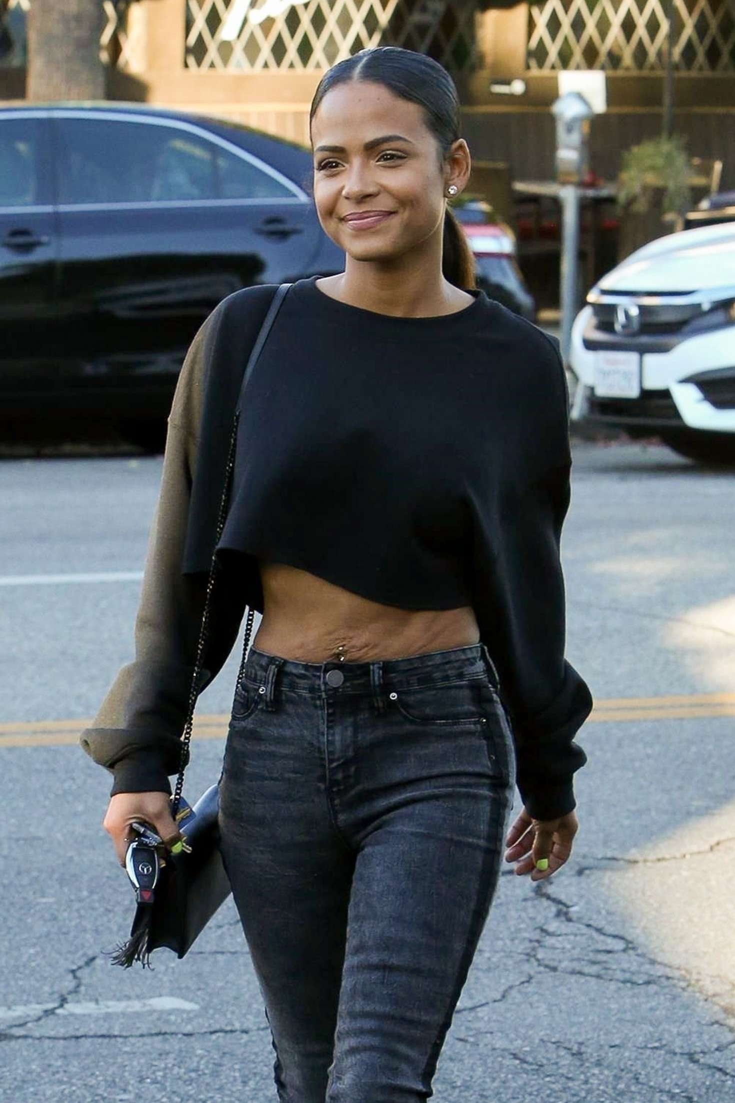 Christina Milian - Heading to a skin clinic in Studio City