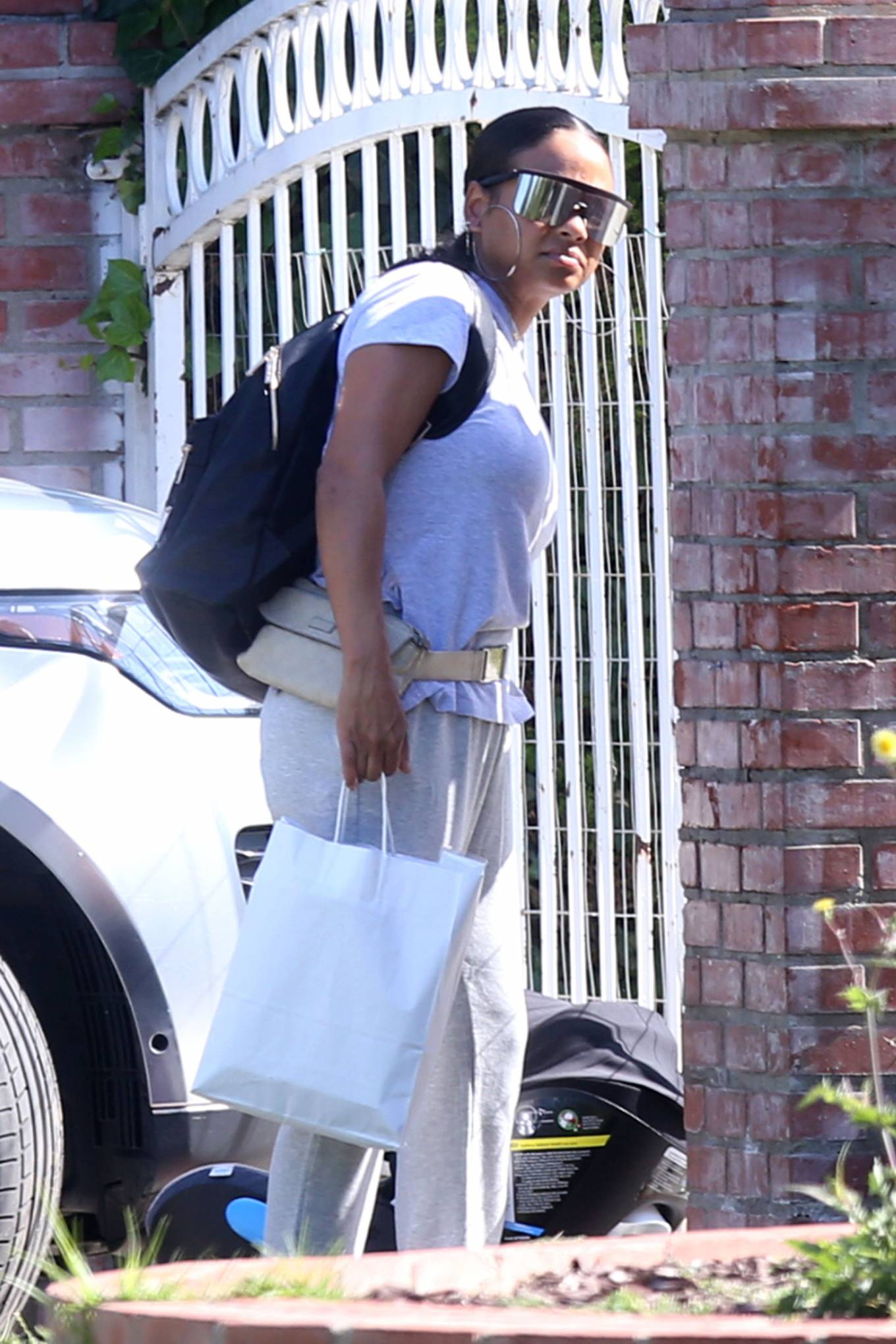 Christina Milian - Heads to a friend's house in Los Angeles