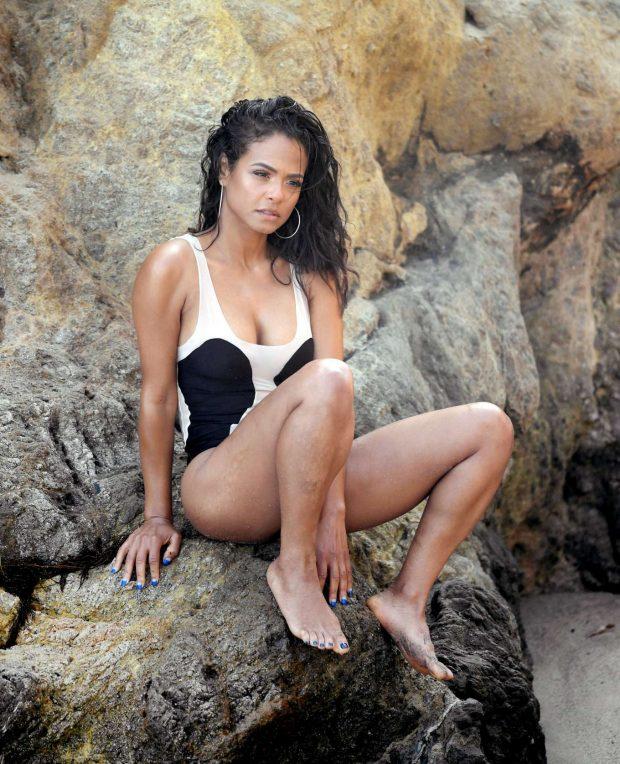 Christina Milian in Bikini and Swimsuit on a photoshoot in Malibu adds