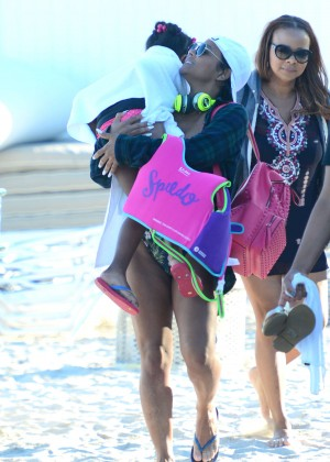 Christina Milian in bikini at Miami Beach-03
