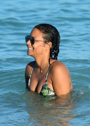 Christina Milian in bikini at Miami Beach-10