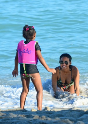 Christina Milian in bikini at Miami Beach-21