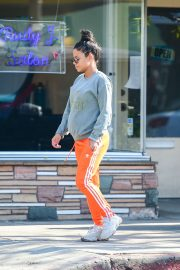 Christina Milian in casual look in Los Angeles