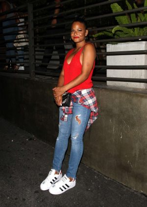 Christina Milian in Jeans at Hyde Lounge in West Hollywood