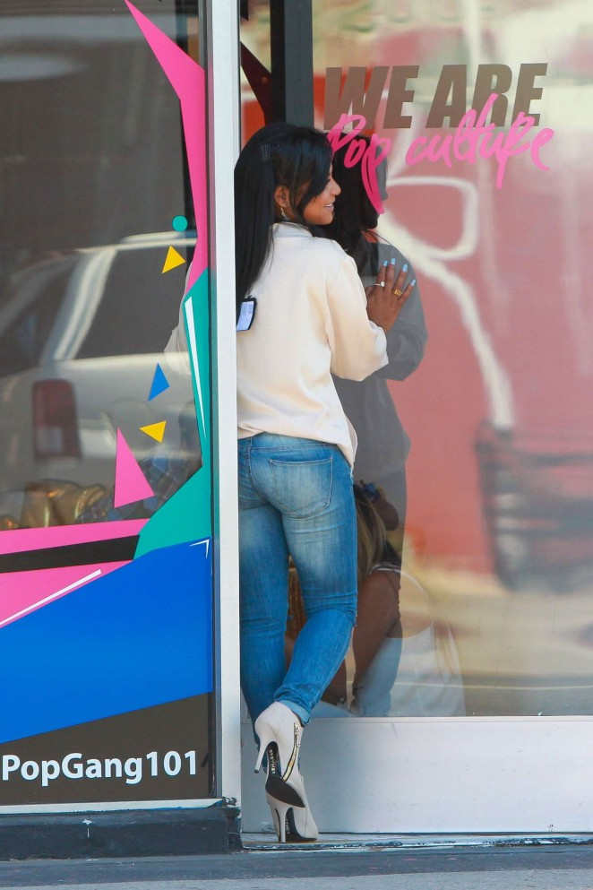 Christina Milian in Jeans at We Are Pop Culture Pop up shop in LA
