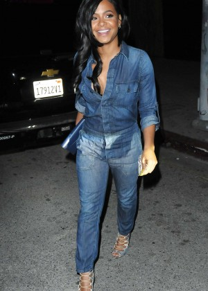 Christina Milian in Jeans Leaves Mr Nice Guy in West Hollywood