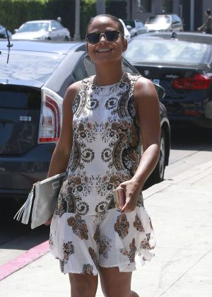 Christina Milian in Mini Dress out in Beverly Hills