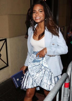 Christina Milian in Mini Skirt - Out and about in Los Angeles