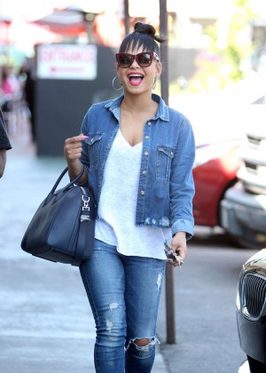 Christina Milian in Ripped Jeans out in LA