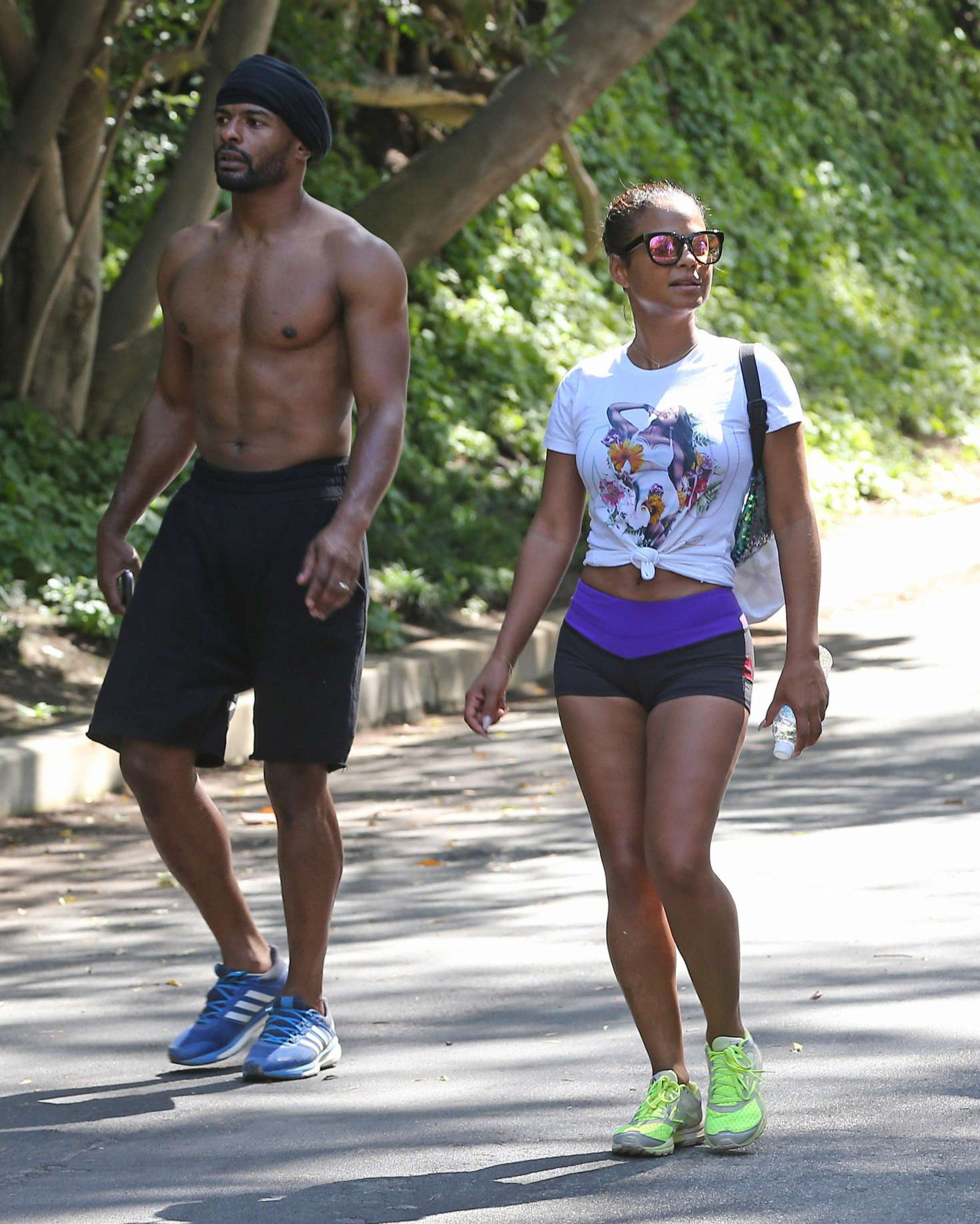 Back to post christina milian in short shorts workout in los angeles