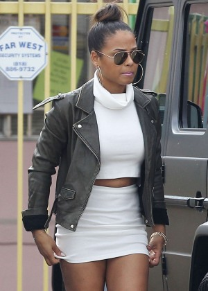 Christina Milian in Tight Dress Out and about in LA