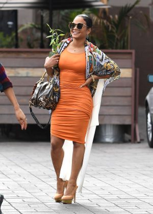 Christina Milian in Tight Dress out in Los Angeles