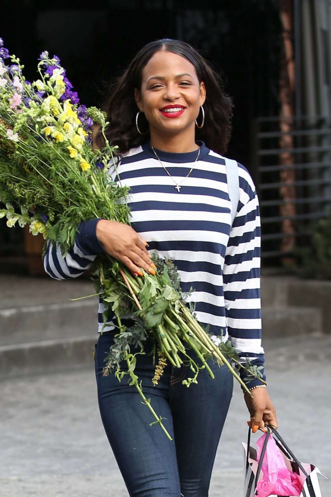 Christina Milian - Leave Nicole Williams bridal shower in West Hollywood