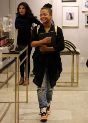 Christina Milian - Leaves Anastasia Salon in Beverly Hills