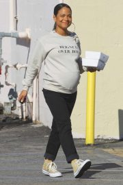 Christina Milian - Leaving a nail salon in North Hollywood
