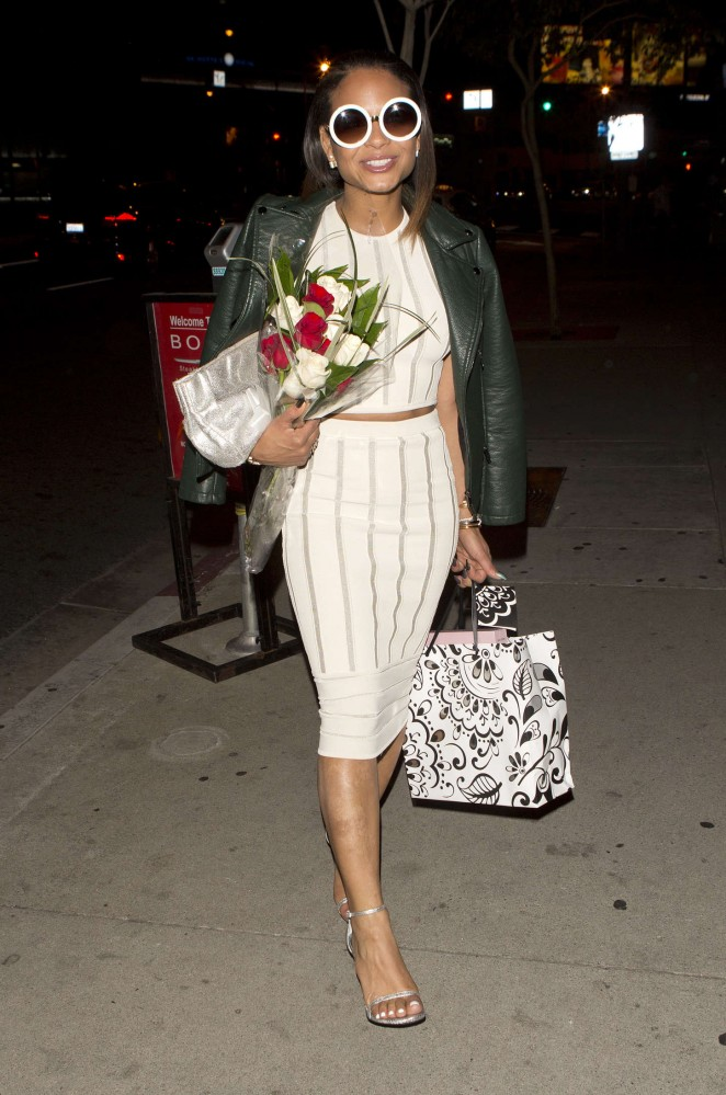 Christina Milian - Leaving BOA Steakhouse in West Hollywood