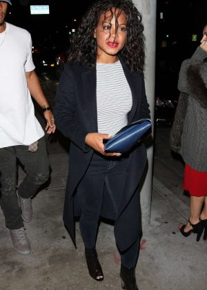 Christina Milian - Leaving Catch Restaurant in West Hollywood