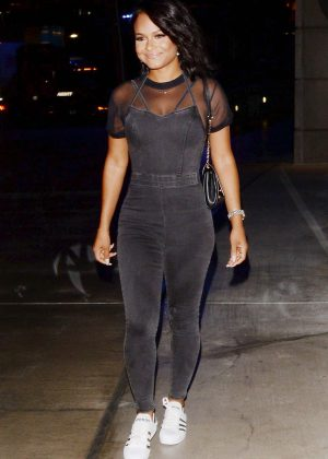 Christina Milian - Leaving Staples Center in Los Angeles