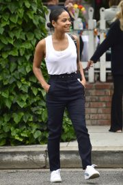 Christina Milian - Leaving The Ivy restaurant in Beverly Hills