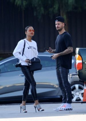 Christina Milian - Leaving The Marciano Art Foundation in Los Angeles