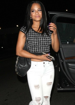Christina Milian - Leaving Warwick Nightclub in Hollywood