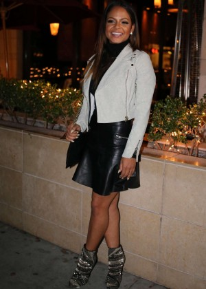 Christina Milian - Lunch with friends at Porta Via in LA
