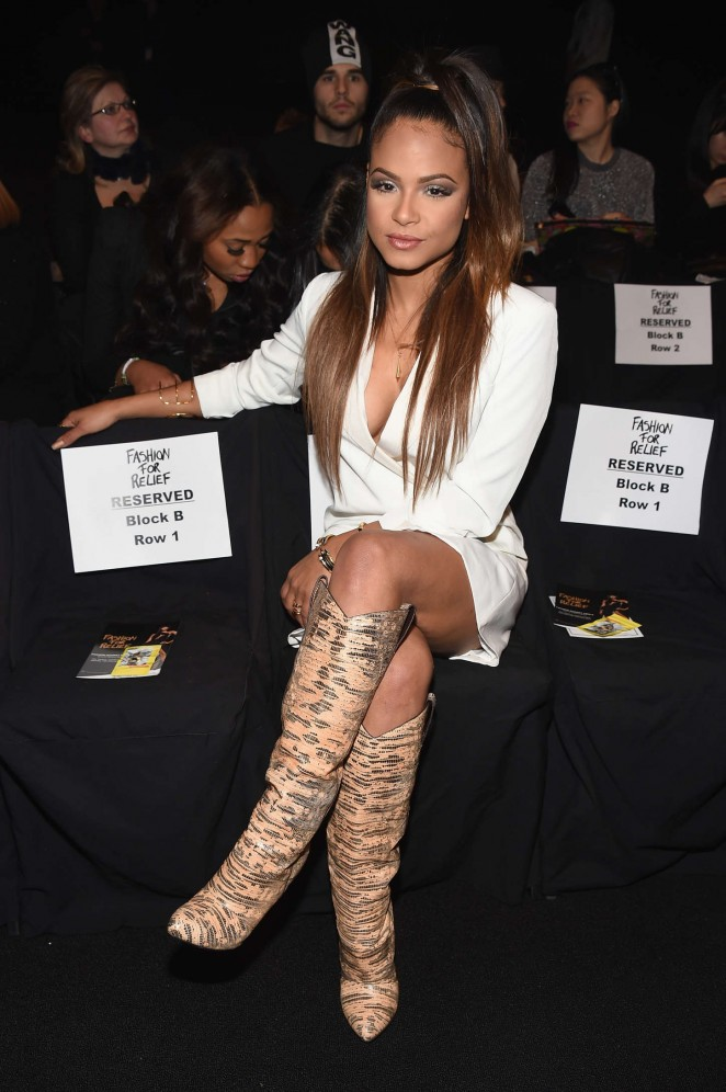 Christina Milian - Naomi Campbell's Fashion For Relief Charity Fashion Show in NYC