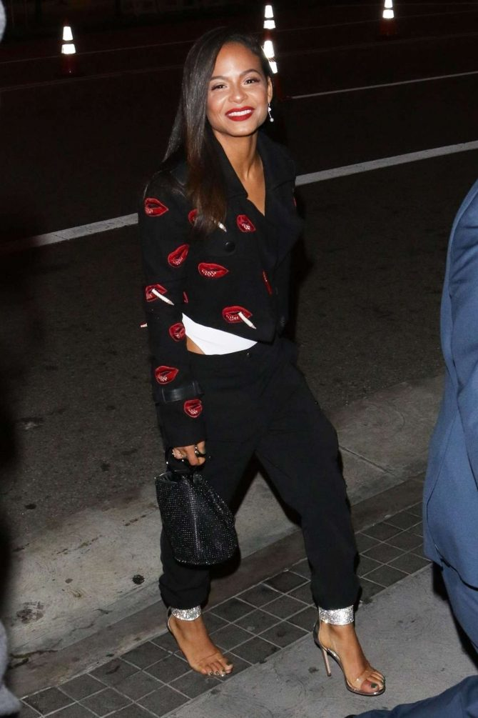 Christina Milian - Night out in Los Angeles