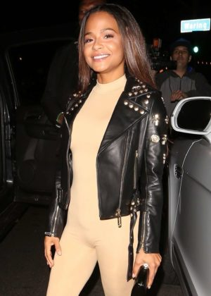 Christina Milian - Night out in West Hollywood