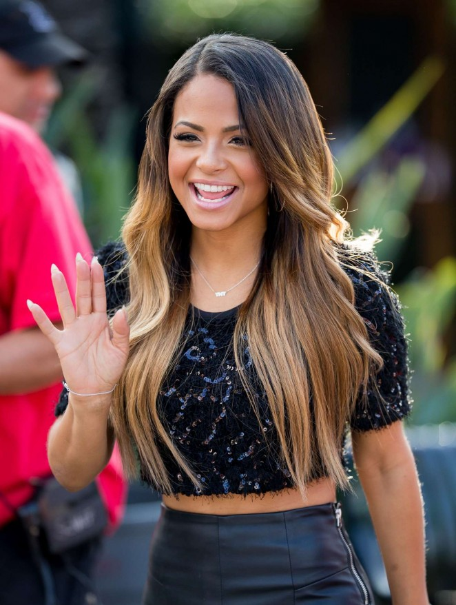 Christina Milian on Extra -59