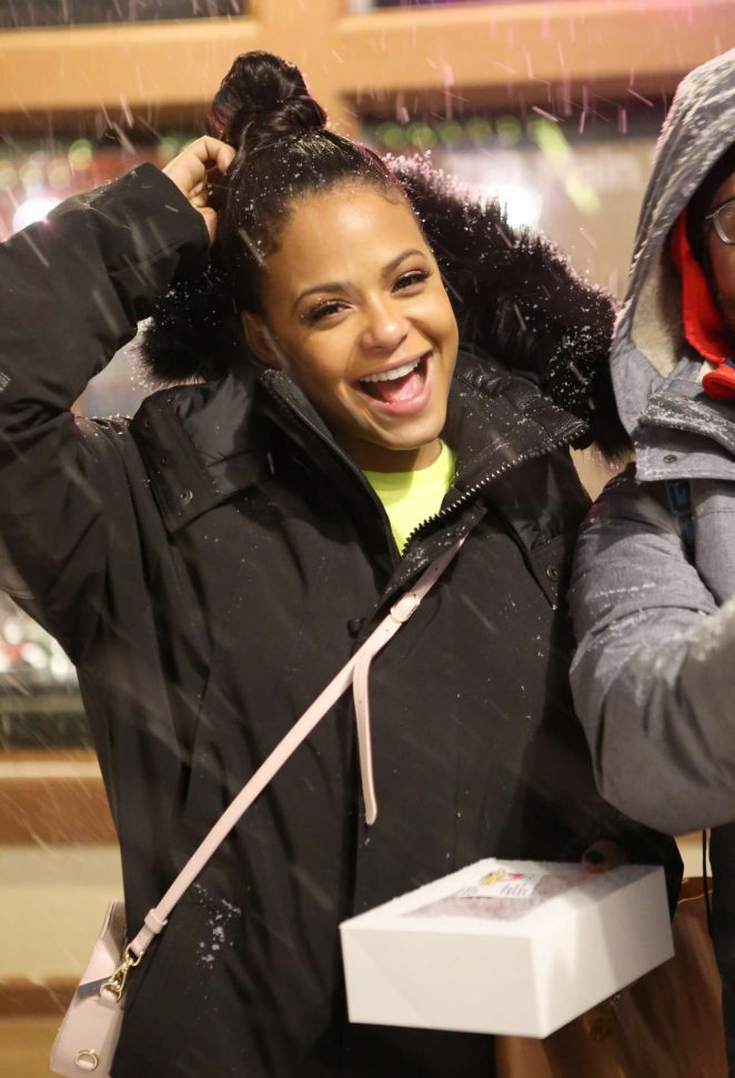 Christina Milian out at 2017 Sundance Film Festival in Utah
