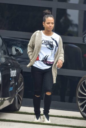 Christina Milian - Out for lunch at Mauro's Cafe in West Hollywood