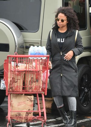 Christina Milian - Out for shopping in Los Angeles