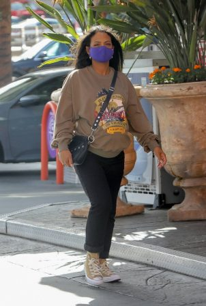 Christina Milian - Out for some snacks in Los Angeles
