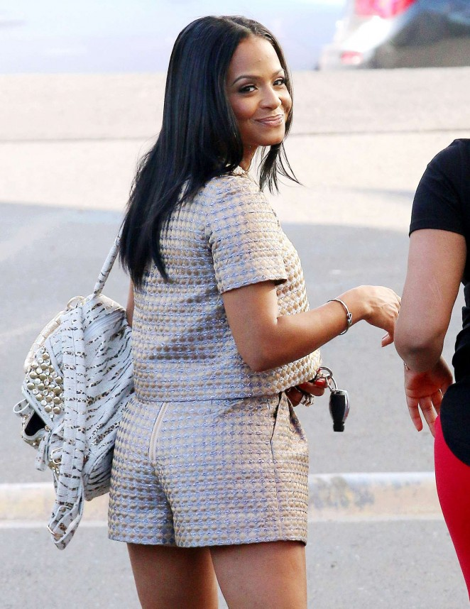 Christina Milian in Shorts Out In Hollywood