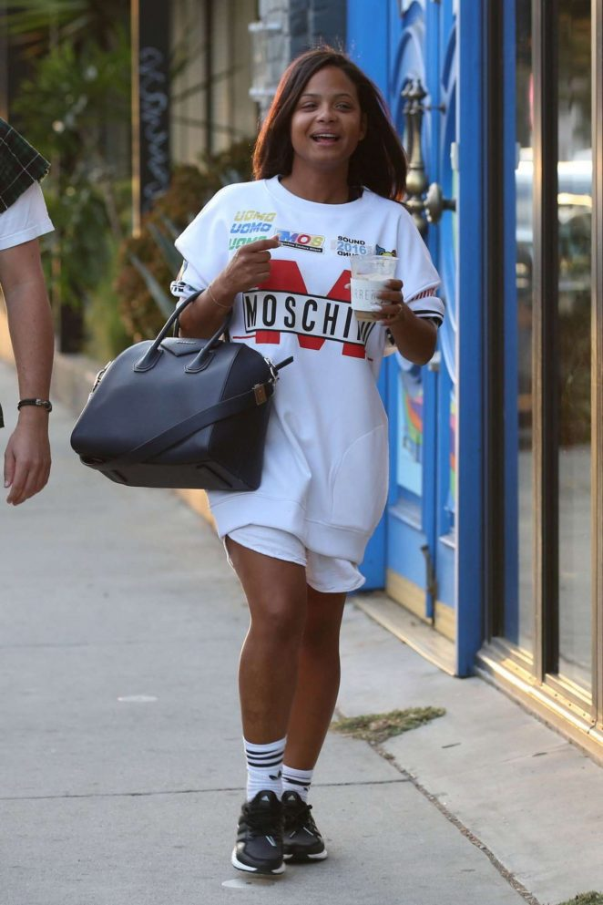 Christina Milian Out in West Hollywood
