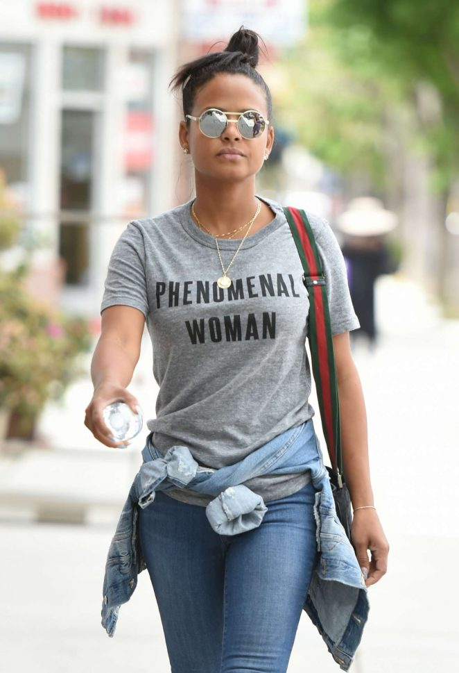Christina Milian out shopping in LA