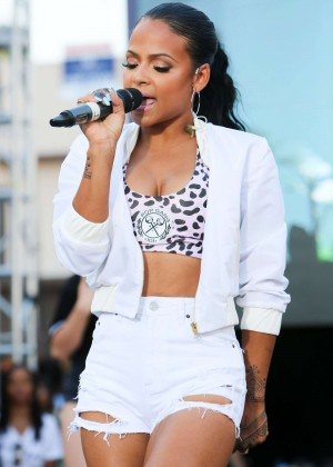 Christina Milian - Performs at the #WCW Block Party in LA