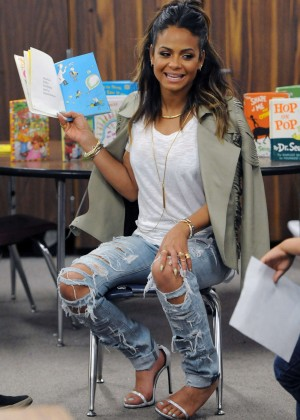 Christina Milian - 'Read Across America' Program in LA