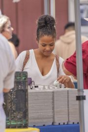 Christina Milian - Seen at Beignet Box Food Truck in Los Angeles