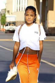 Christina Milian - Seen leaving a nail salon in LA