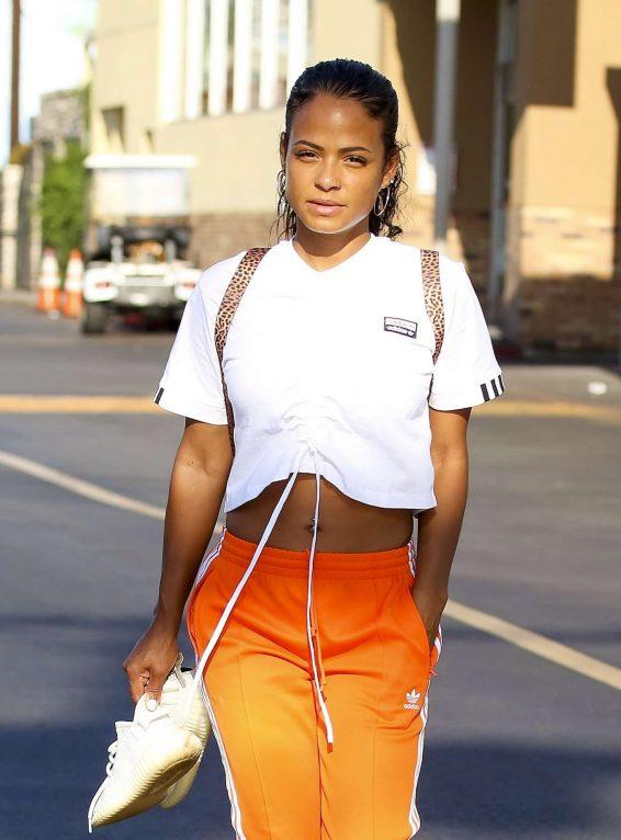 Christina Milian - Seen leaving a nail salon in LA