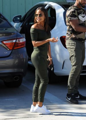 Christina Milian - Seen leaving lunch at SunCafe in Studio City
