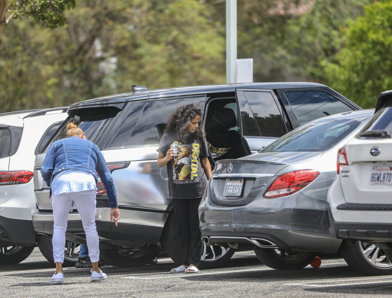 Christina Milian 2021 : Christina Milian – Seen without makeup in Los Angeles at Mercedes dealership-06