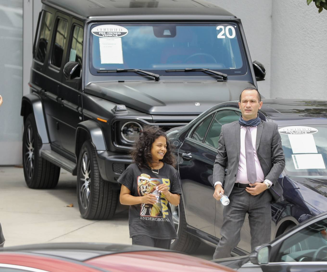 Christina Milian 2021 : Christina Milian – Seen without makeup in Los Angeles at Mercedes dealership-10