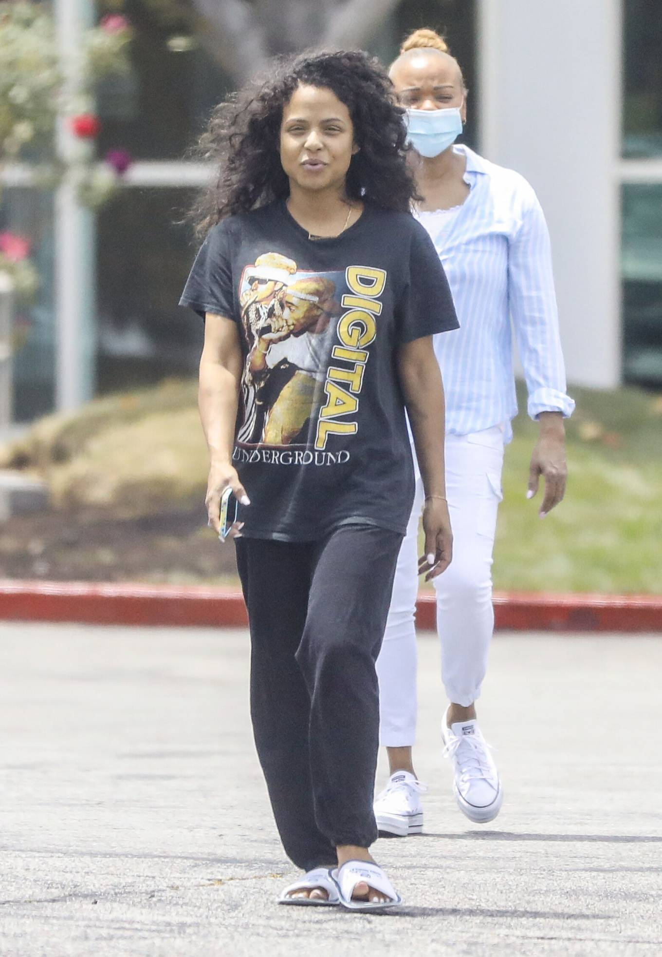 Christina Milian - Seen without makeup in Los Angeles at Mercedes dealership