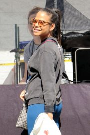 Christina Milian - Shopping at a Farmer's Market in Studio City