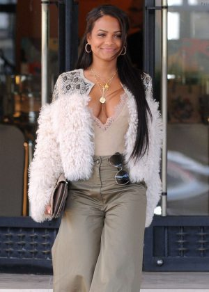 Christina Milian Shopping at Barneys New York in LA