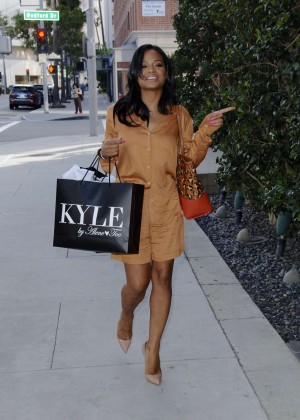 Christina Milian - Shopping at Kyle Boutique in Beverly Hills