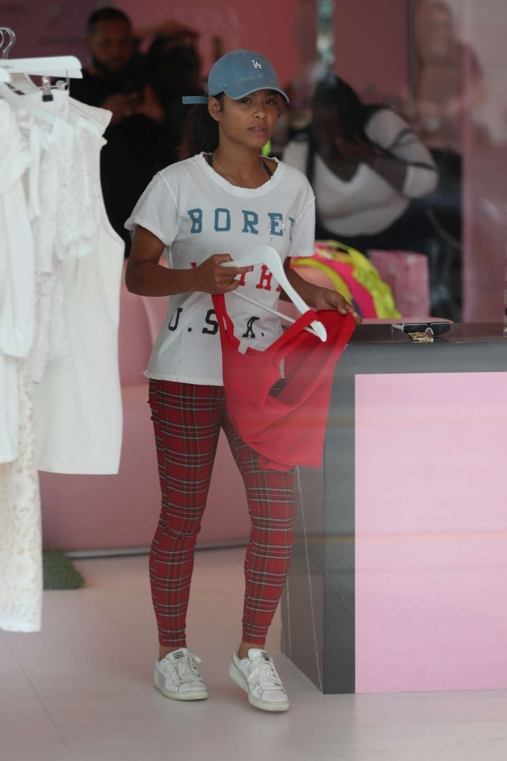 Christina Milian - Shopping at PrettyLittleThing in West Hollywood